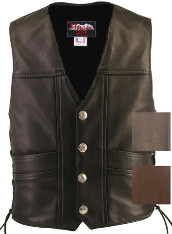 Cruiser Motorcycle Leather Vest