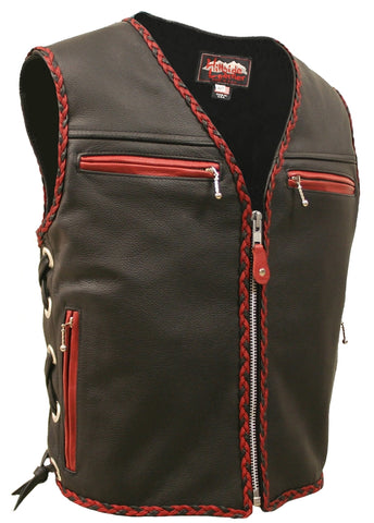 Elite Braided Vest-black-red