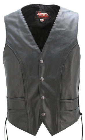 Full Back Motorcycle Vest with Side Laces
