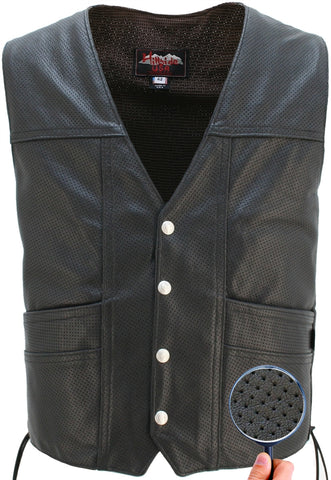 Full Perforated Cruiser Biker Vest