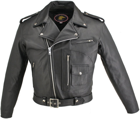 Horsehide D Pocket Motorcycle Jacket