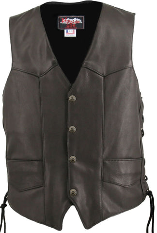 Laced Motorcycle Vest w/ Gun Pockets