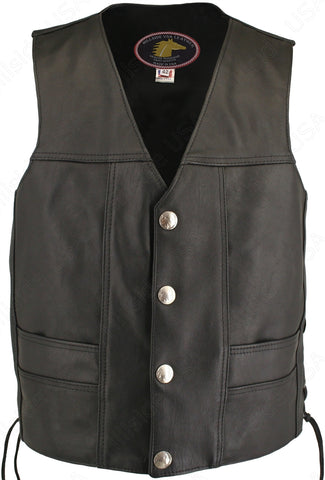 Men's Ultimate Horsehide Motorcycle Leather Vest