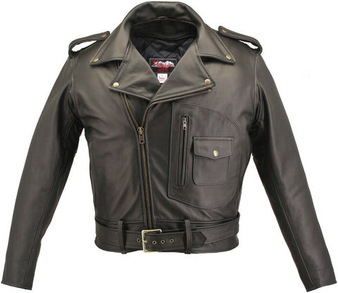 The D Pocket Motorcycle Leather Jacket
