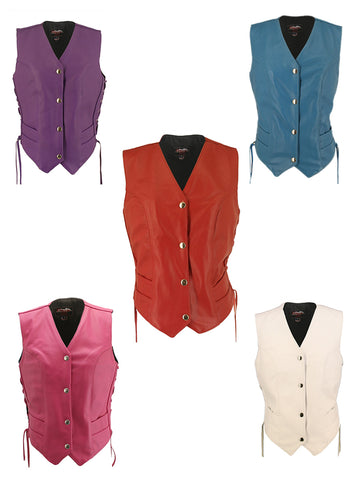 Women's Motorcycle Leather Vest