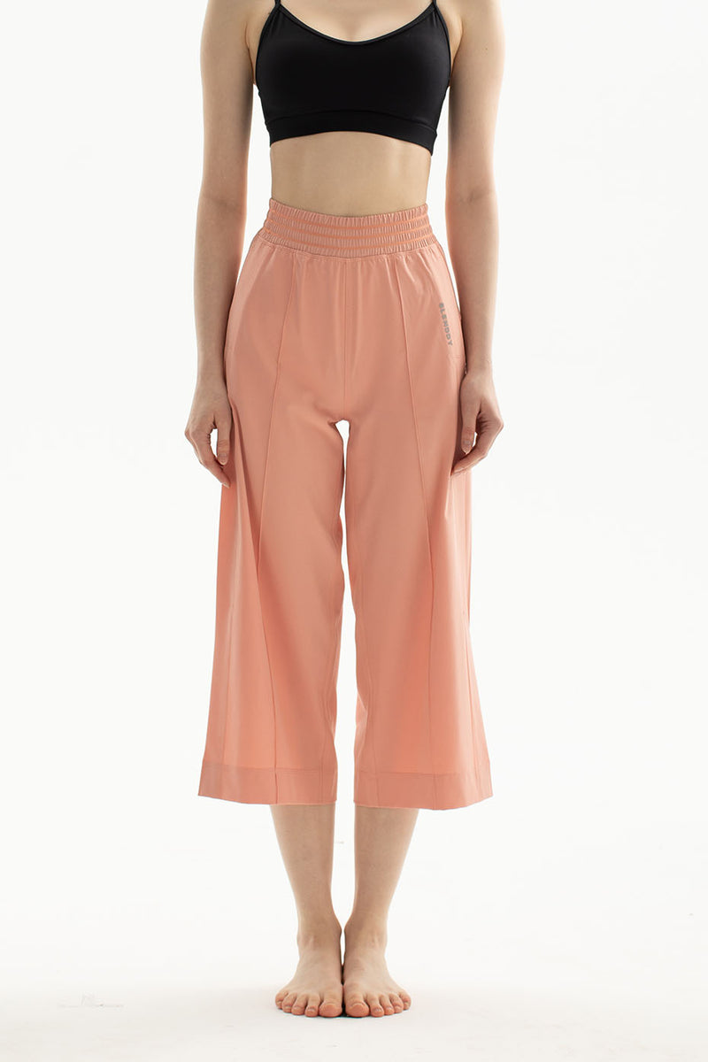 3/4 Coral Wide Leg Side Split High-Rise Pant