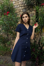 Load image into Gallery viewer, Sophia Dress in Navy Blue