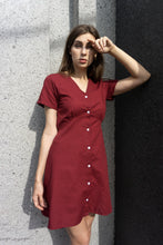 Load image into Gallery viewer, Sophia Dress in Maroon