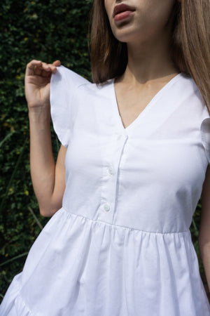 Renny Dress in White