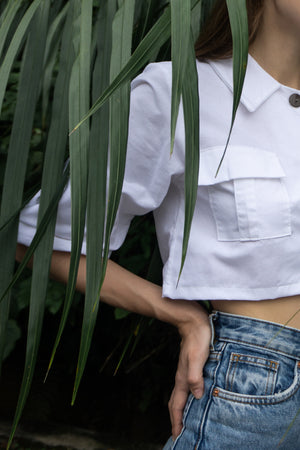 Mia Crop Top in White