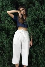 Load image into Gallery viewer, Ava Crop Top in Navy Blue