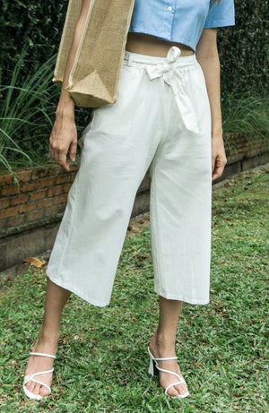 Kathy Culottes Pants in White