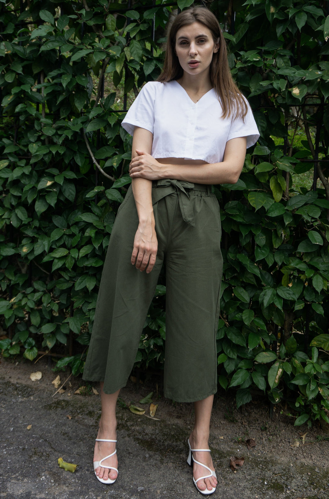Kathy Culottes Pants in Green