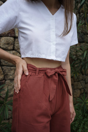 Kathy Culottes Pants in Brown