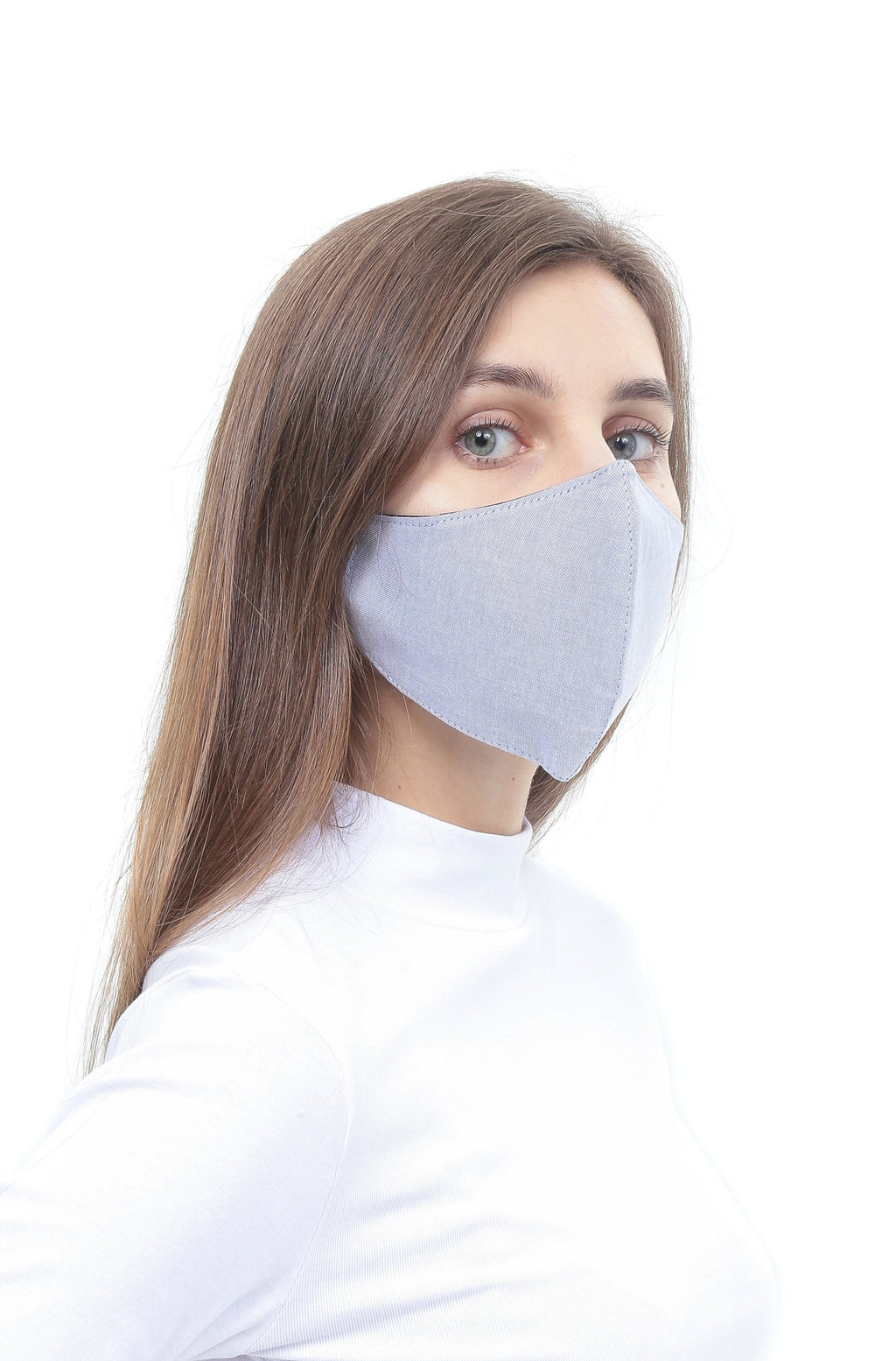 3BULBS Reusable Face Mask in Light Grey (Single/3 Filters)