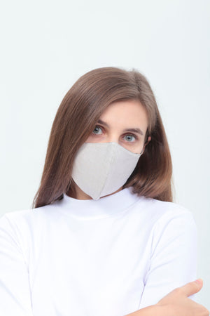 3BULBS Reusable Face Mask in Beige (Single/3 Filters)