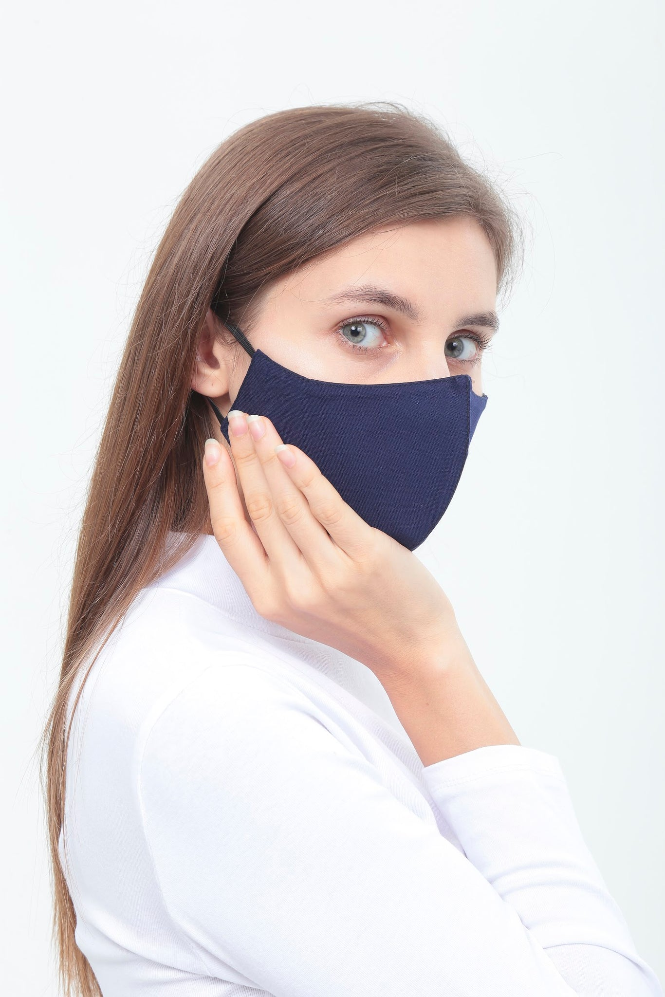 3BULBS Reusable Face Mask in Navy Blue (Single/3 Filters)