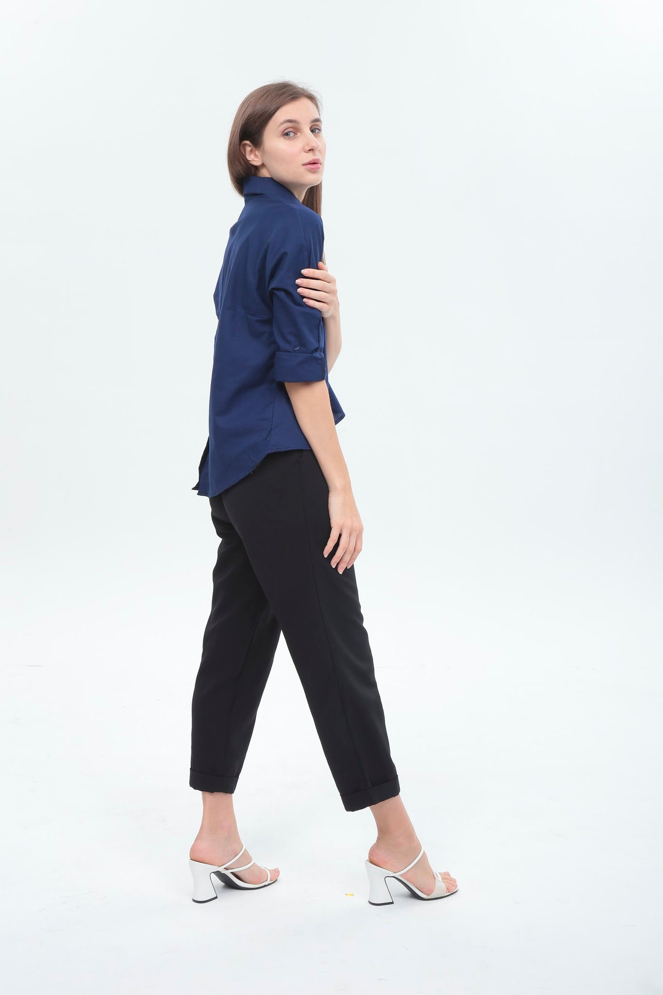 Hannah Top in Navy Blue