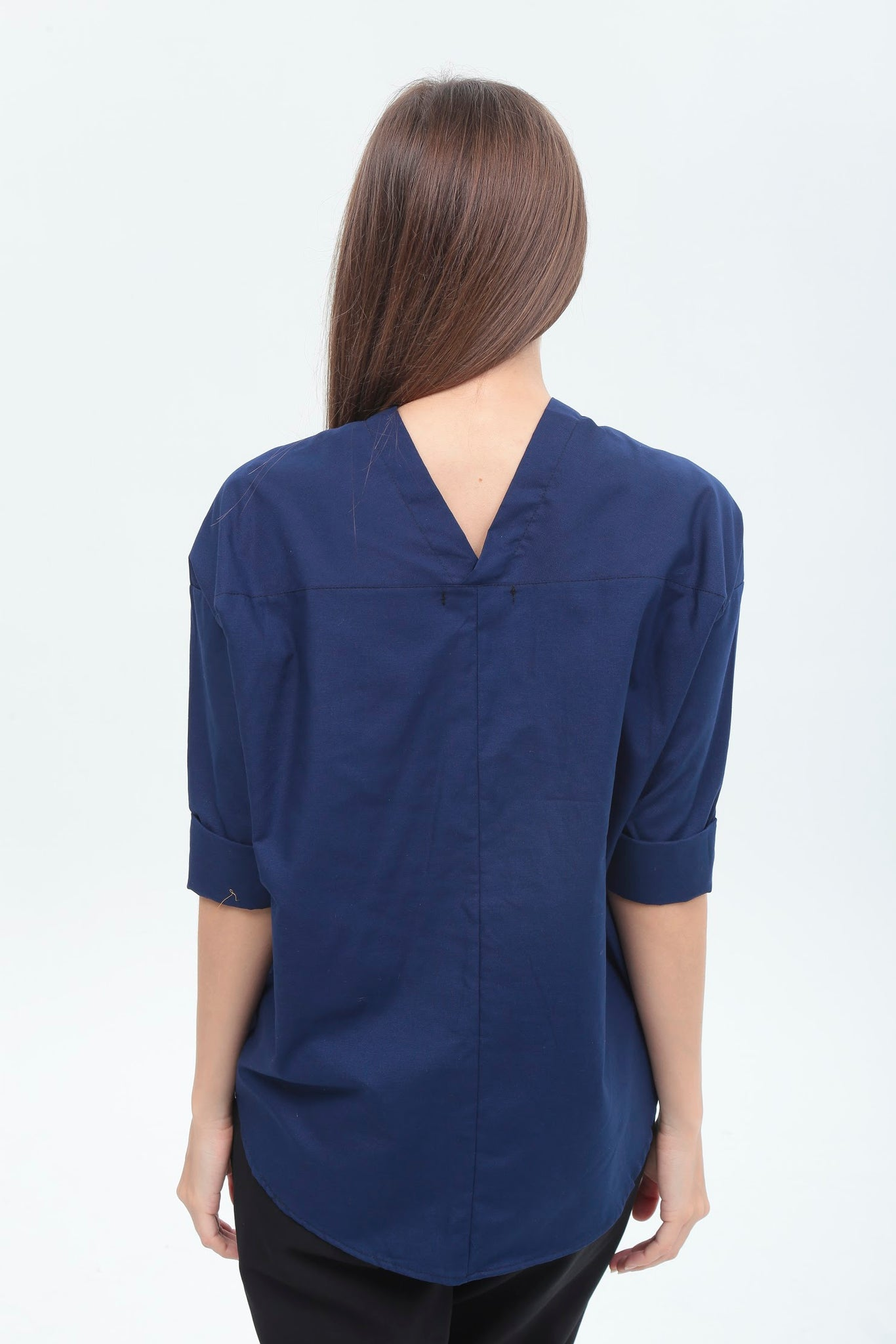 Amelia Top in Navy Blue