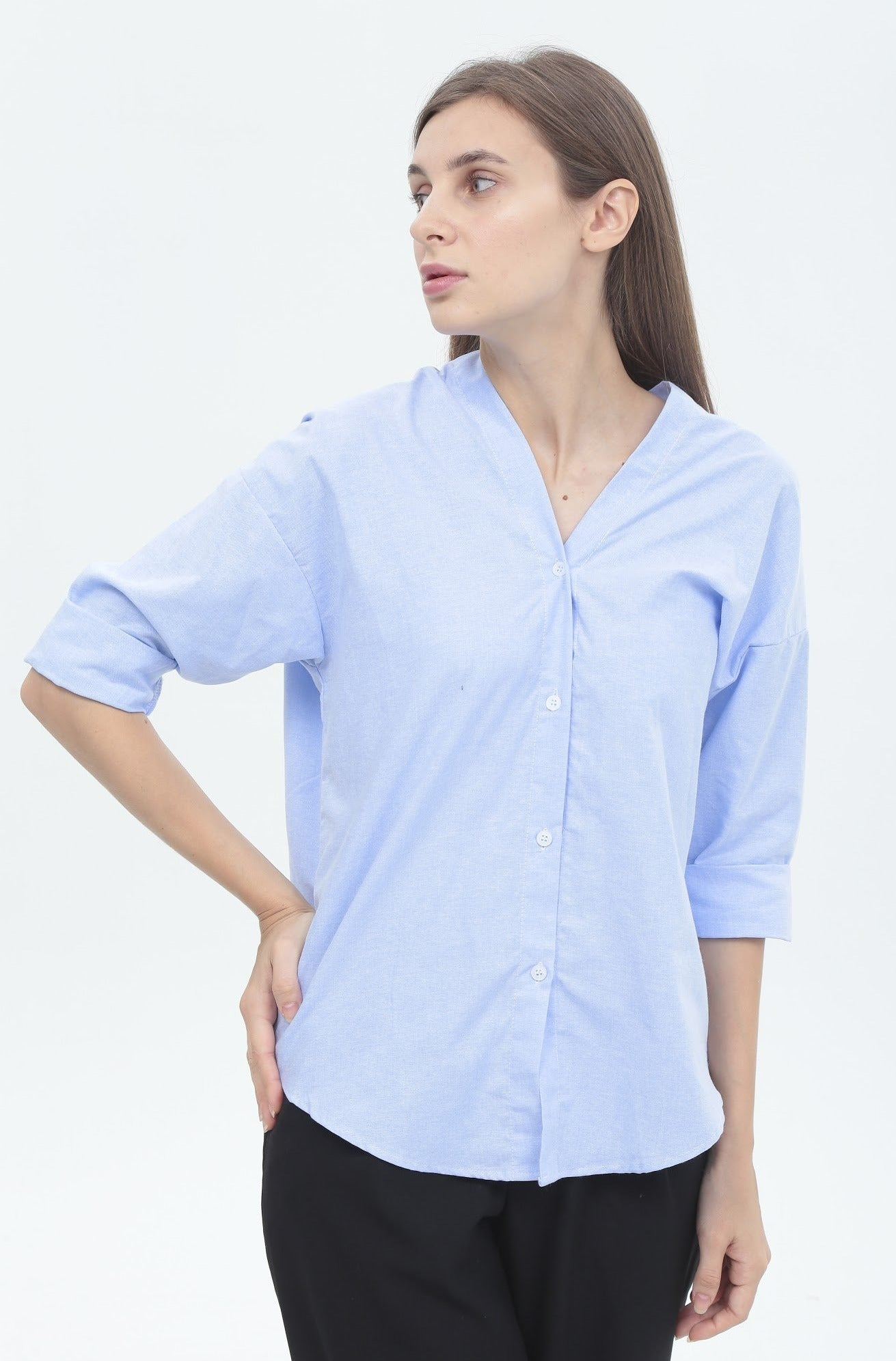 Amelia Top in Light Blue