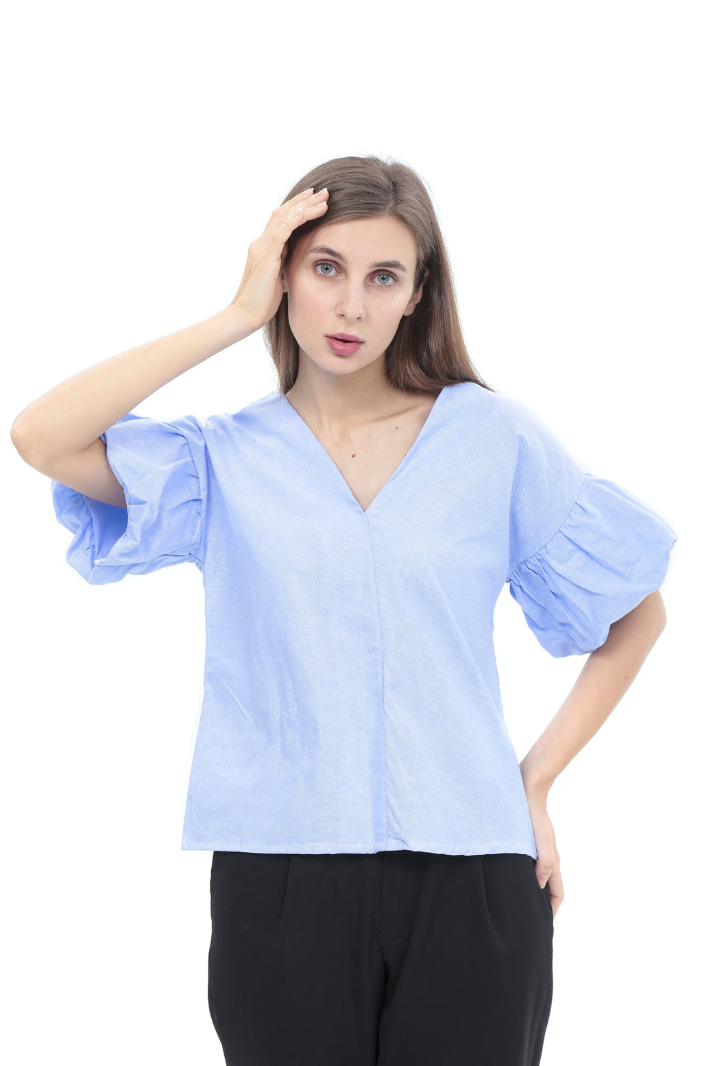 Natalie Top in Light Blue