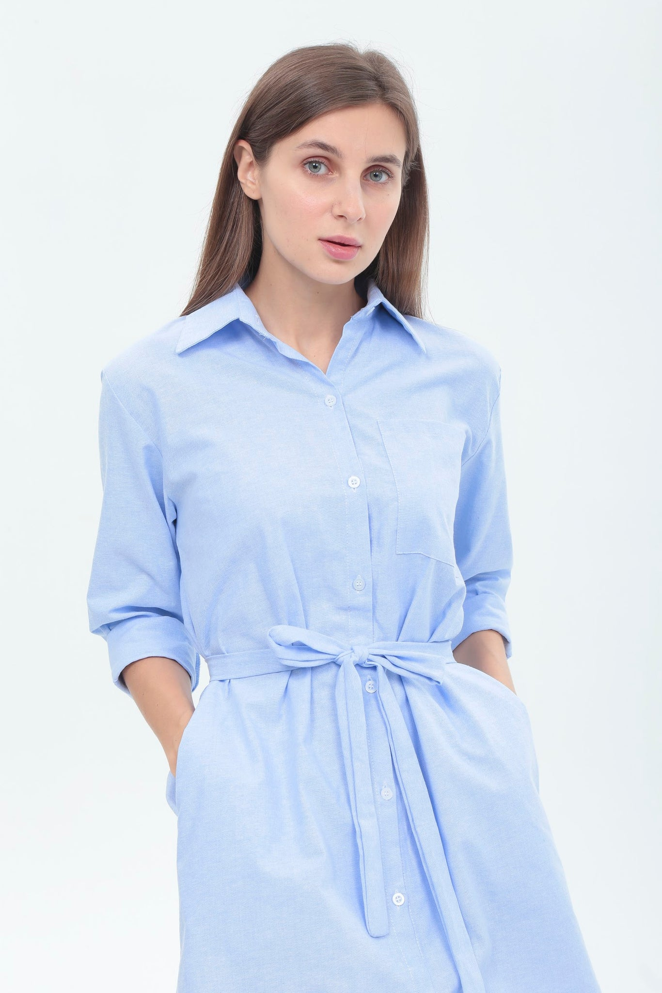 Teresa Dress in Light Blue