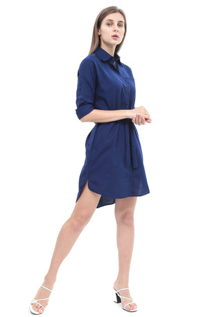 Teresa Dress in Navy Blue