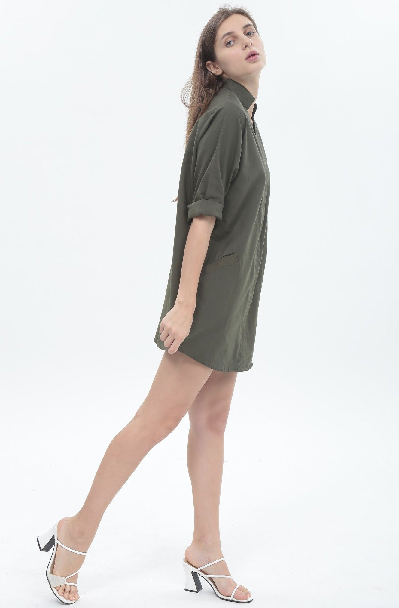 Olivia Dress in Army Green