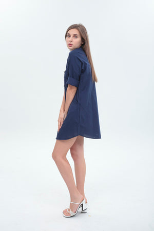 Olivia Dress in Navy Blue