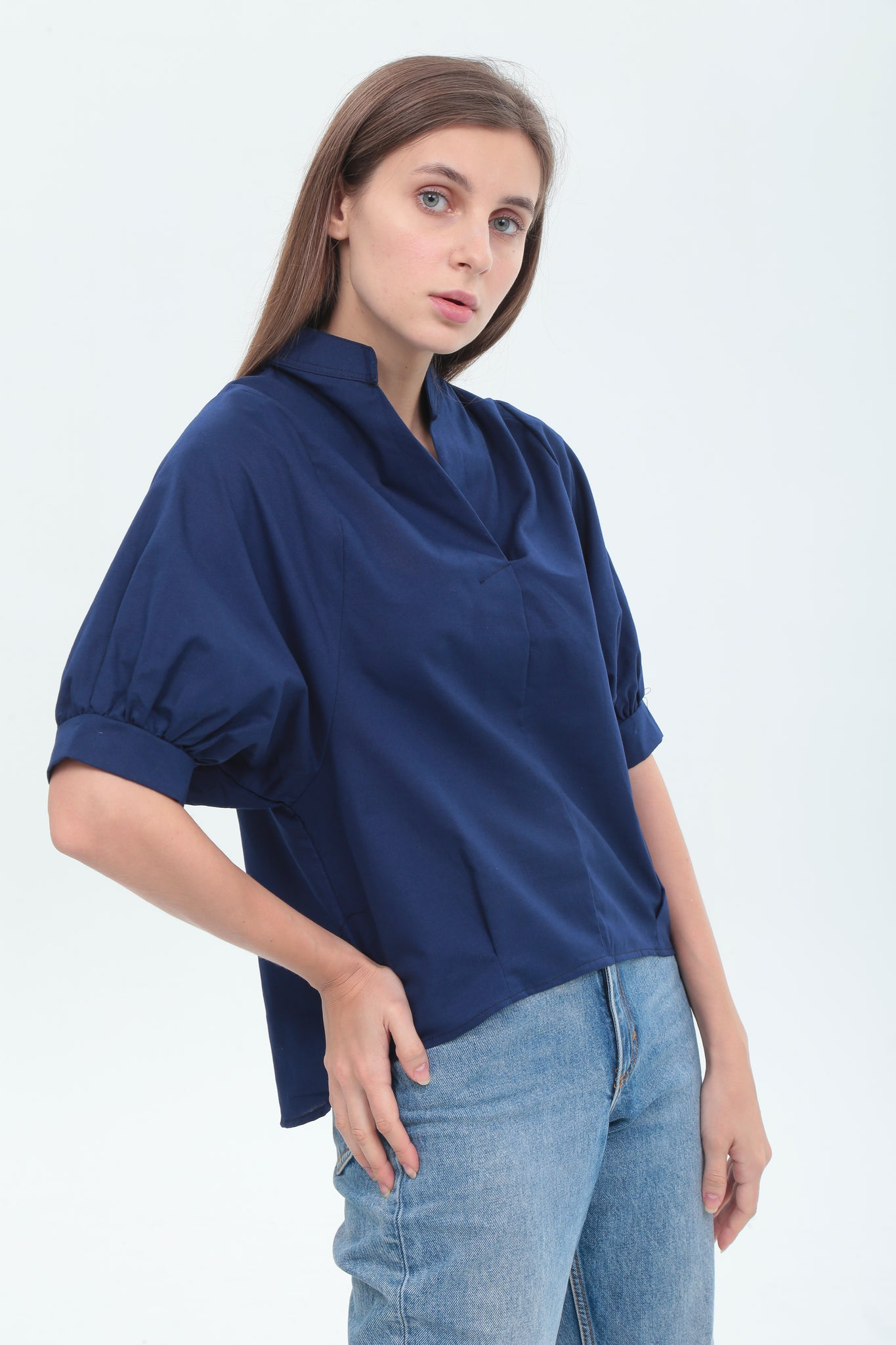 Emily Top in Navy Blue