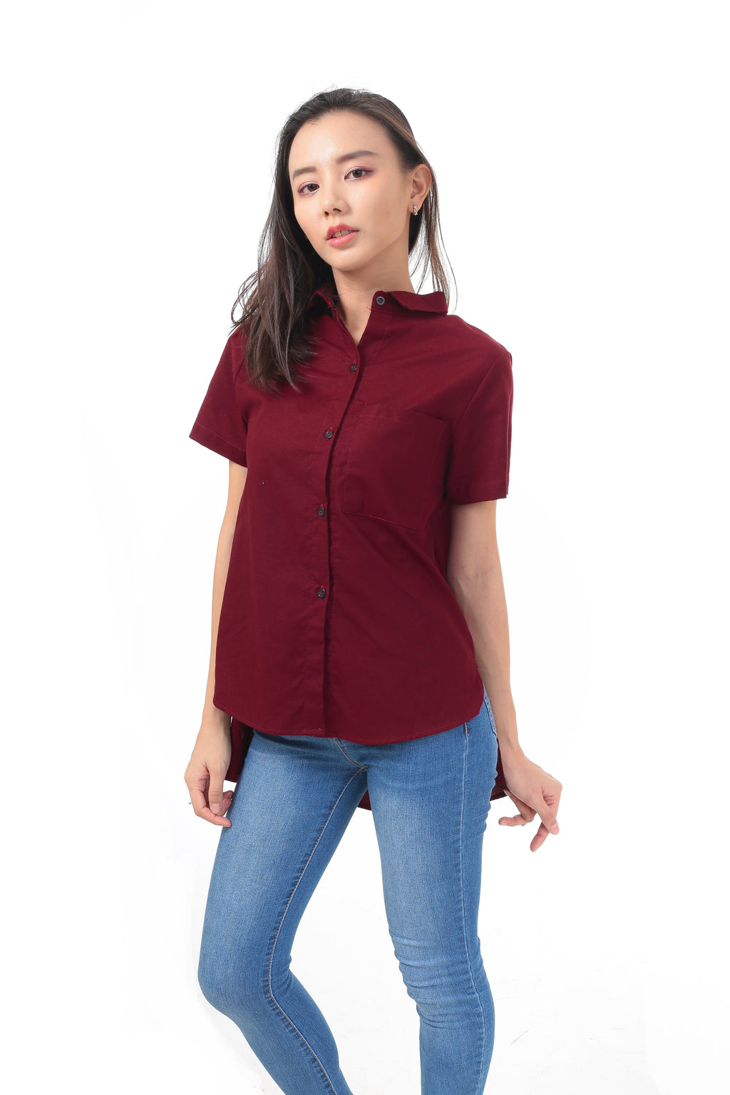 Kelly Top in Maroon