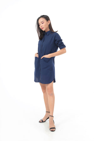 Kate Dress in Navy Blue