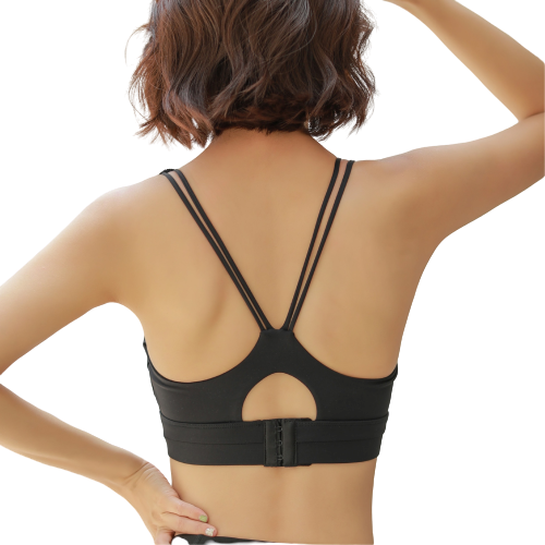 [ Active Wear ] Adjustable Push Up Sport Bra in Black