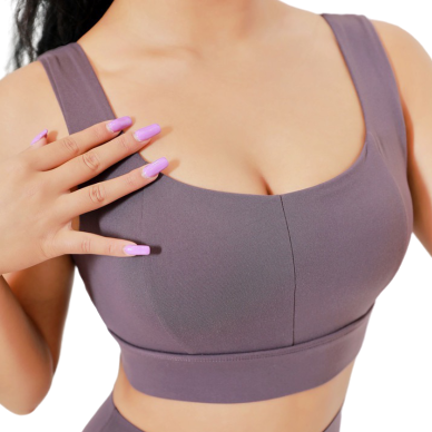 [ Active Wear ] Simple Intense Training Sport Bra in Purple