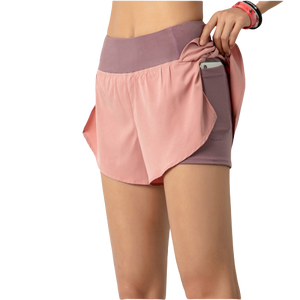 [ Active Wear ] Shorts with Inner Tights in Pink