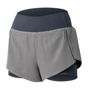 [ Active Wear ] Shorts with Inner Tights in Grey