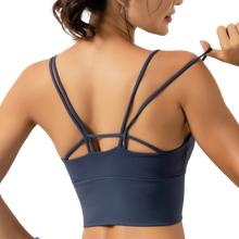 Load image into Gallery viewer, [ Active Wear ] Cross Backless Sport Bra in Blue
