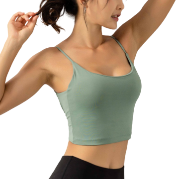 [ Active Wear ] Backless Sport Bra in Green