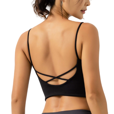 [ Active Wear ] Backless Sport Bra in Black