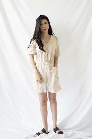 Aliyah Dress in Light Brown