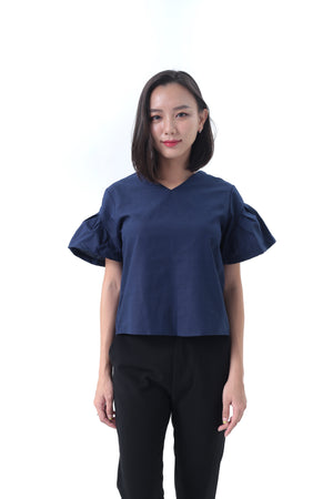 Aria Top in Navy Blue