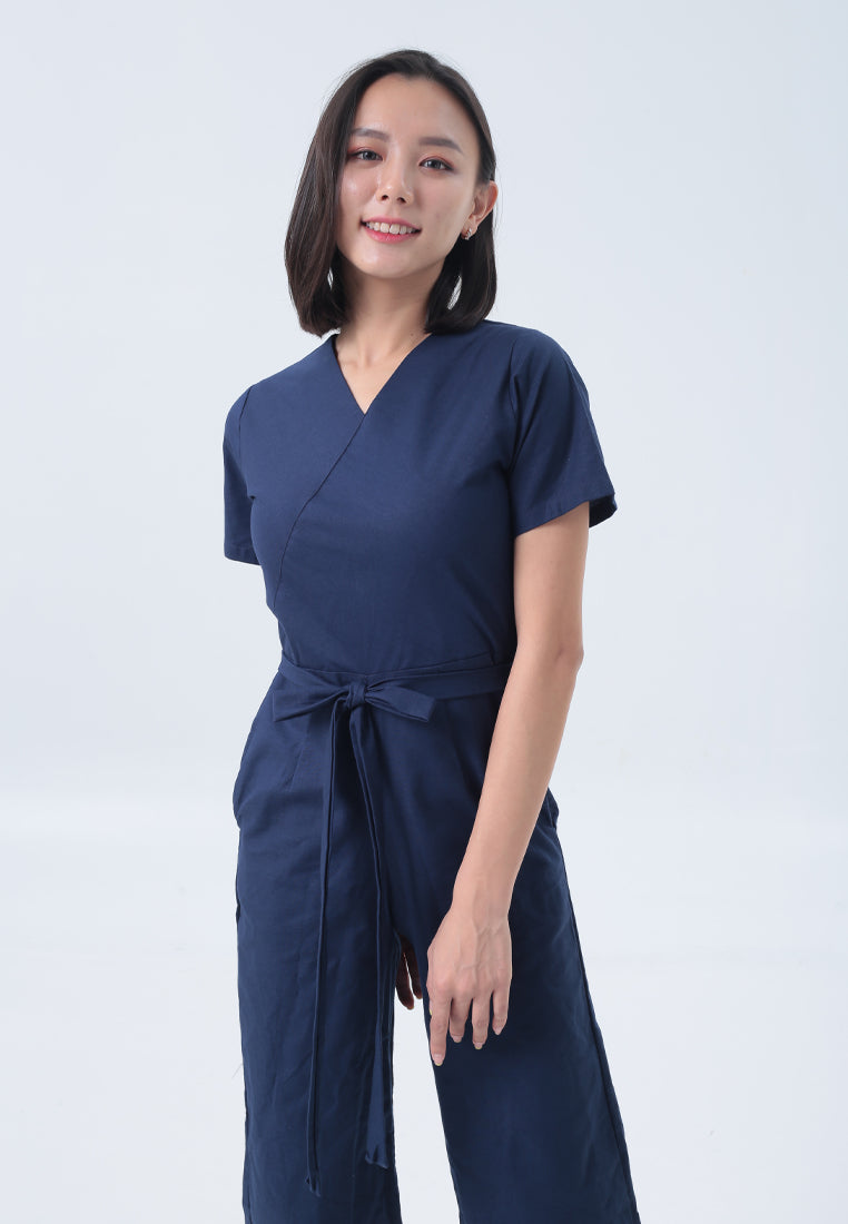 Ronia Jumpsuit in Navy Blue