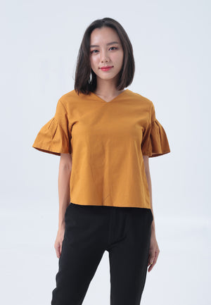 Aria Top in Yellow