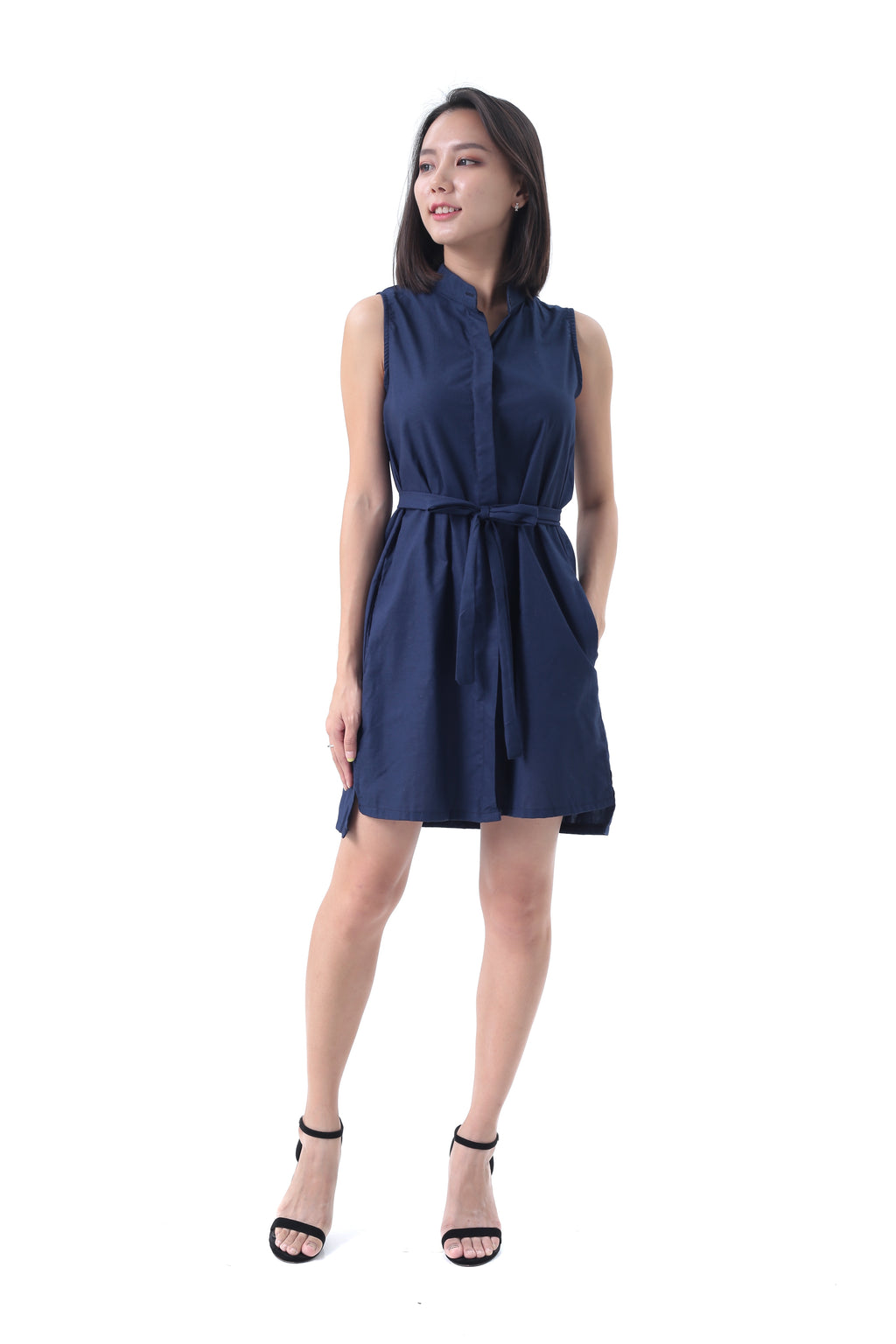 Laura Dress in Navy Blue