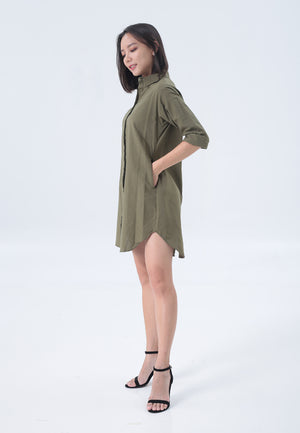 Casey Dress in Army Green