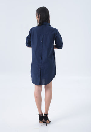 Casey Dress in Navy Blue