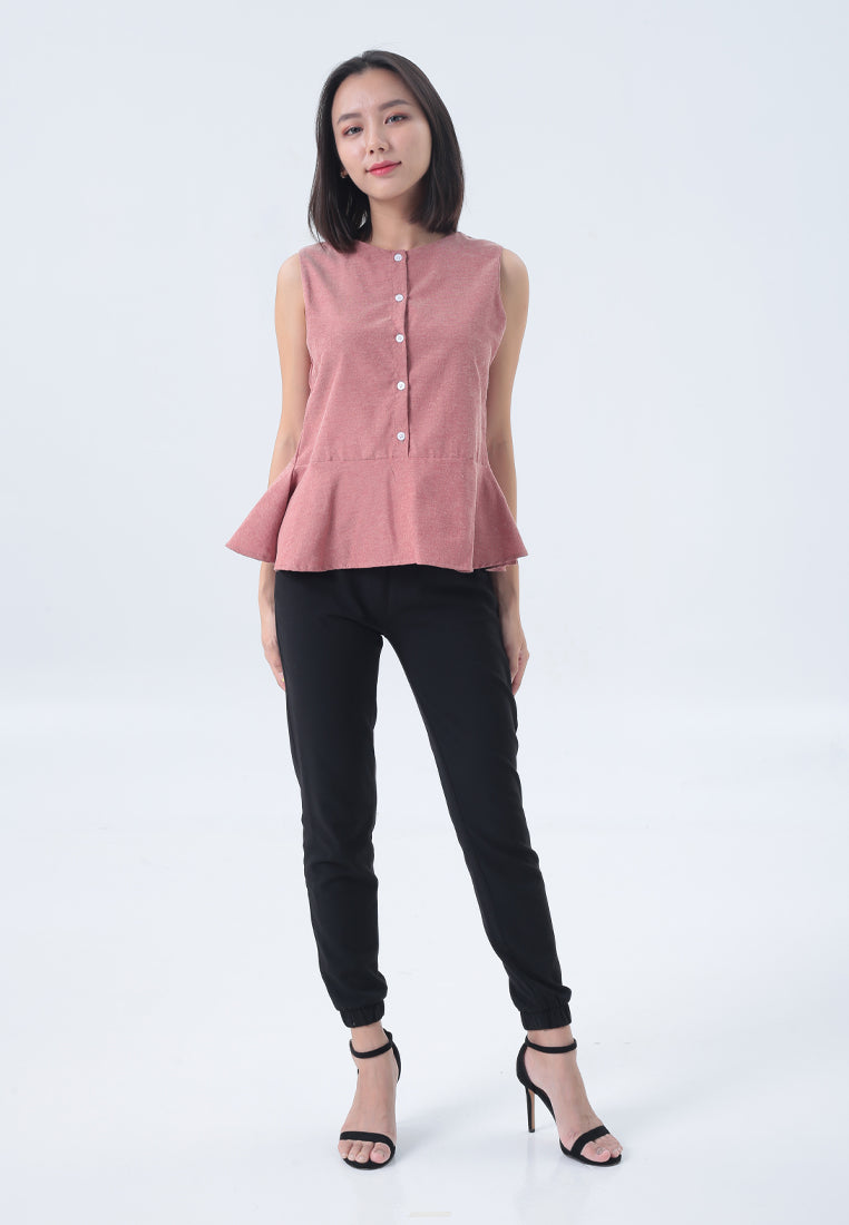 Audrey Top in Pink Beige