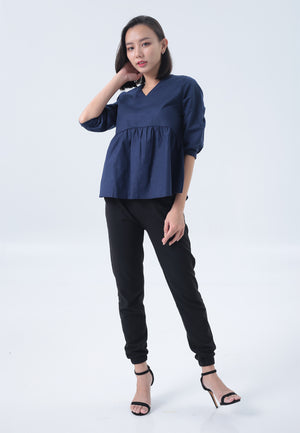 Lynn Top in Navy Blue