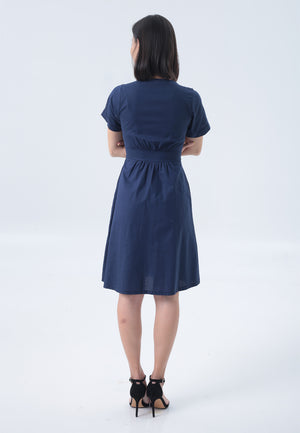 Tiffany Dress in Navy Blue