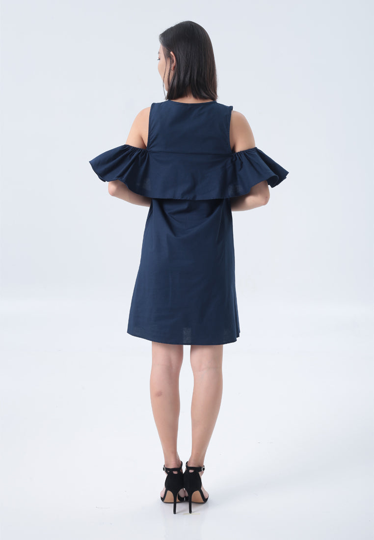 Adalynn Dress in Navy Blue
